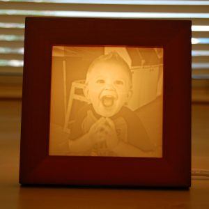 Cute Photo of a kid turned into a Light Affection photo gift lamp