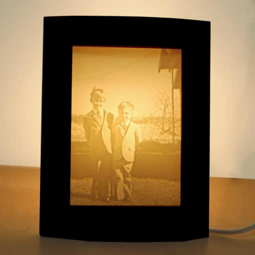 Gift for Mothers Day Large personalized photo lamp