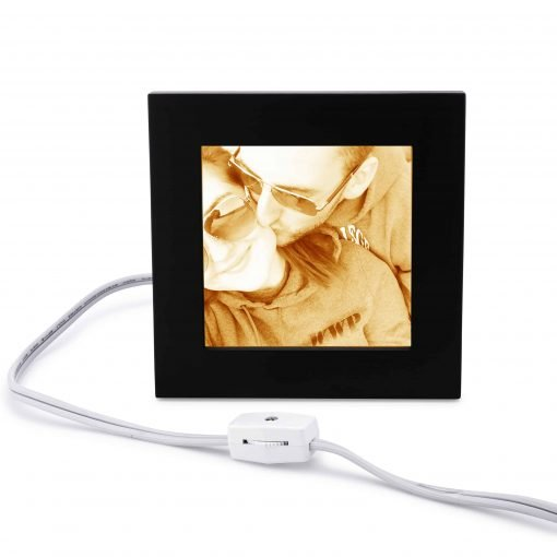 Personalize carved photo lamp romantic