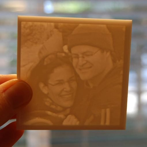 Personalized Carved Photo light on