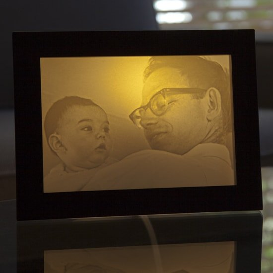 father's day gift - photo of a father turned into lamp