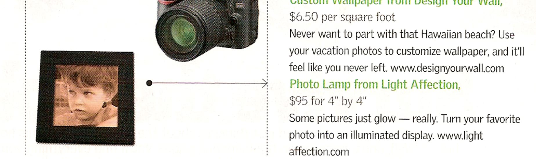 Light Affection in the American Airlines magazine