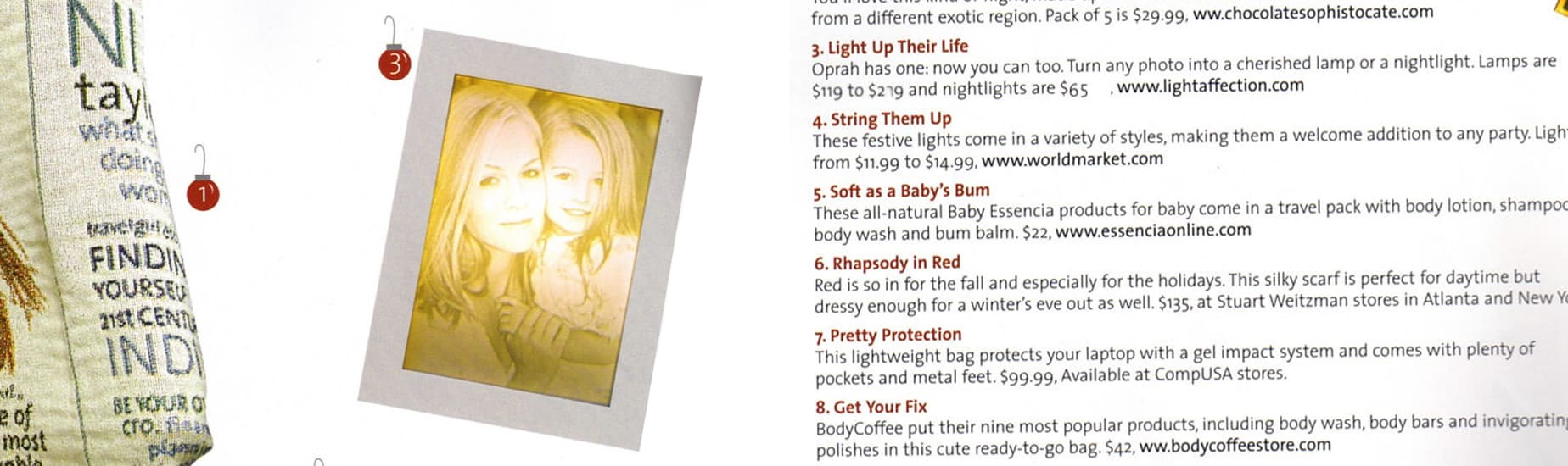 Light Affection in Travel magazine
