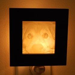 Dog face photo Night Light gift