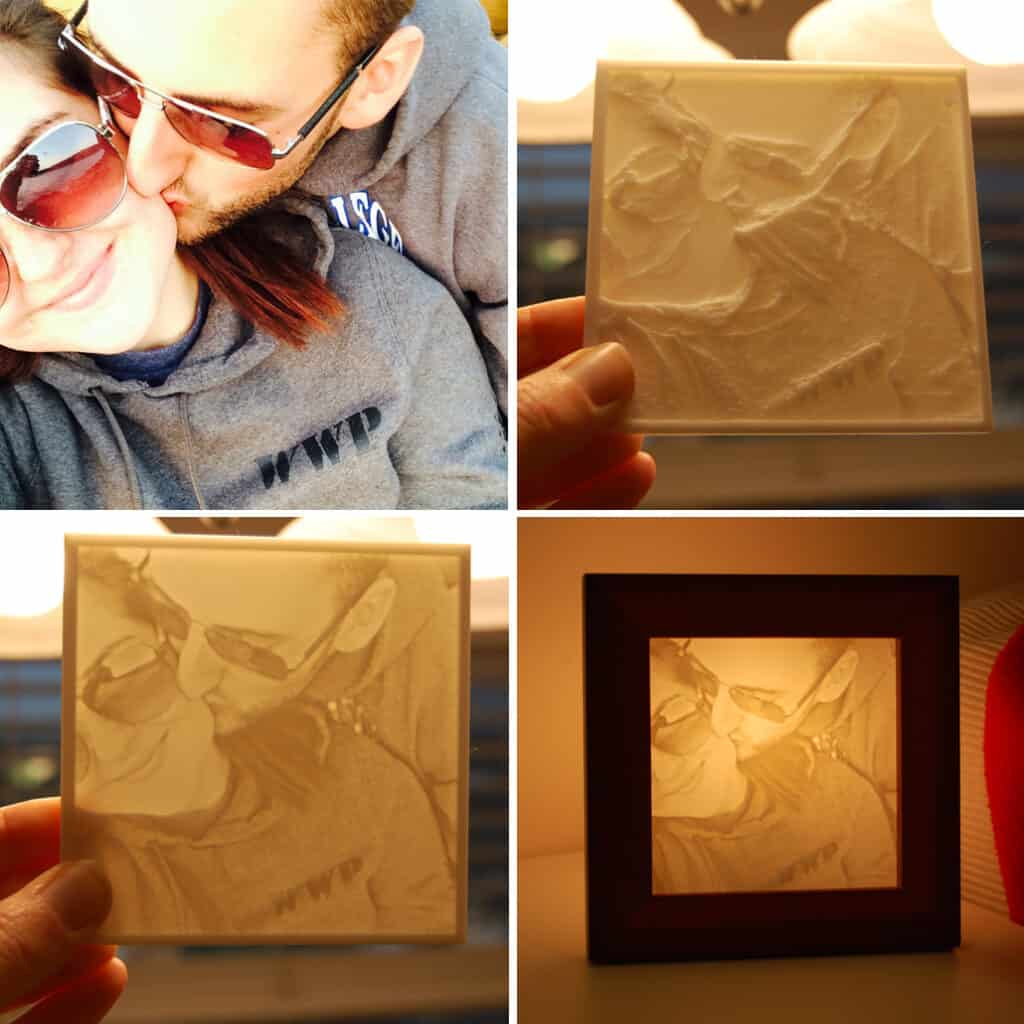 Engagement photo to gift